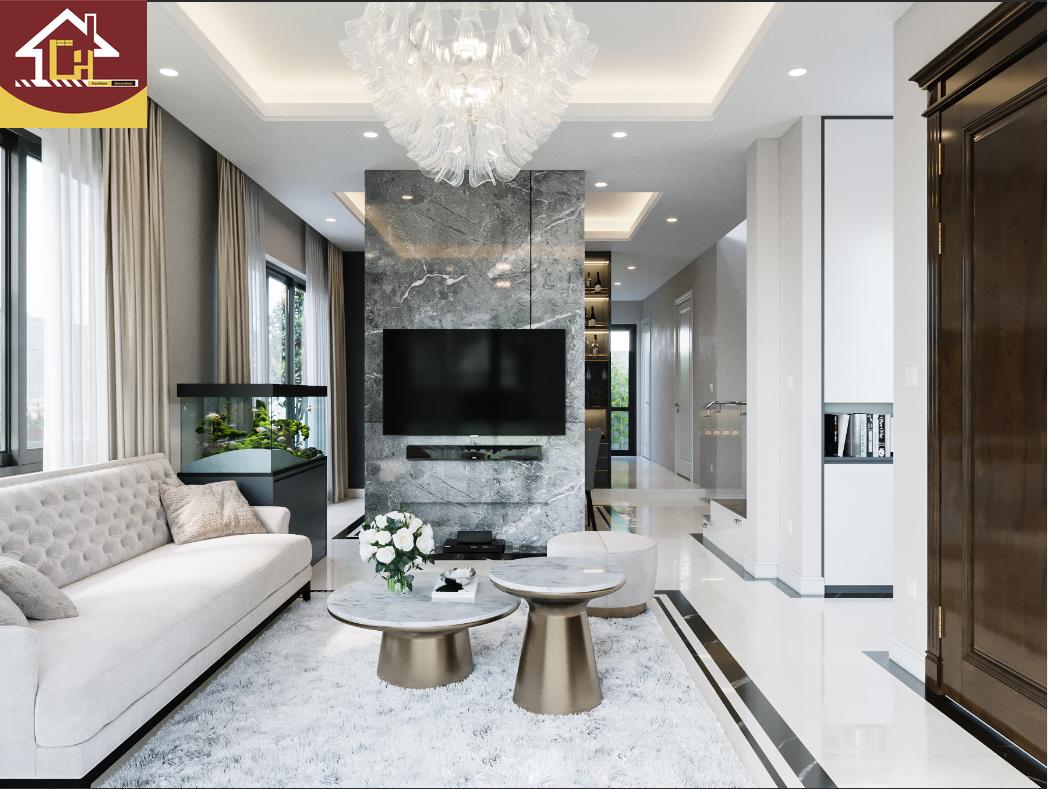Thiết kế nội thất biệt thự hiện đại tại Hoà Binh