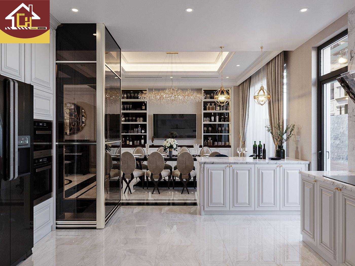 Thiết kế thi công nội thất biệt thự tại Xuân Mai - Hà Nội