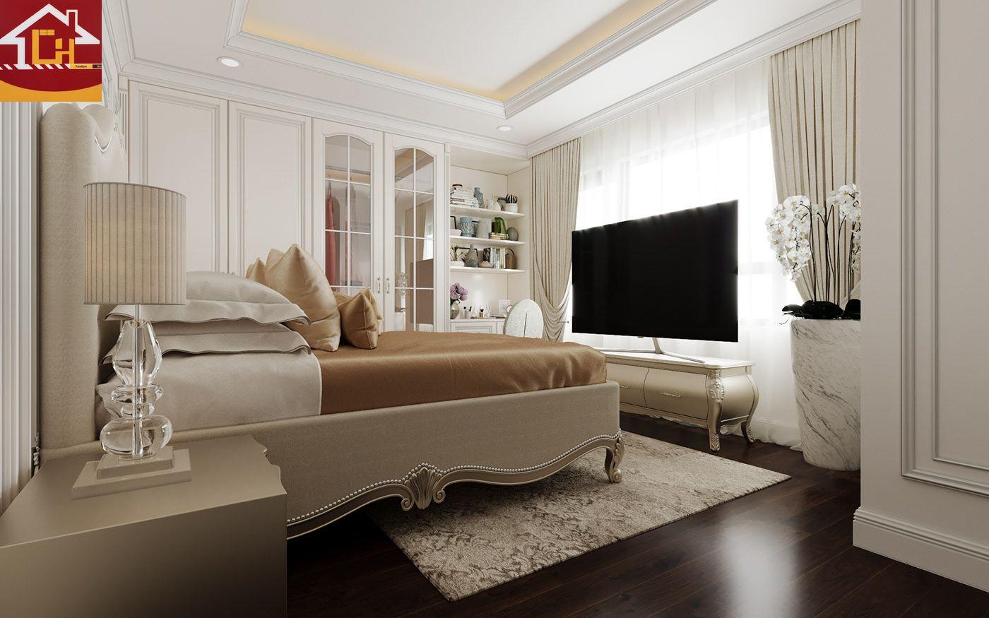 Thiết kế nội thất biệt thự tại Hưng Yên theo phong cách tân cổ điển