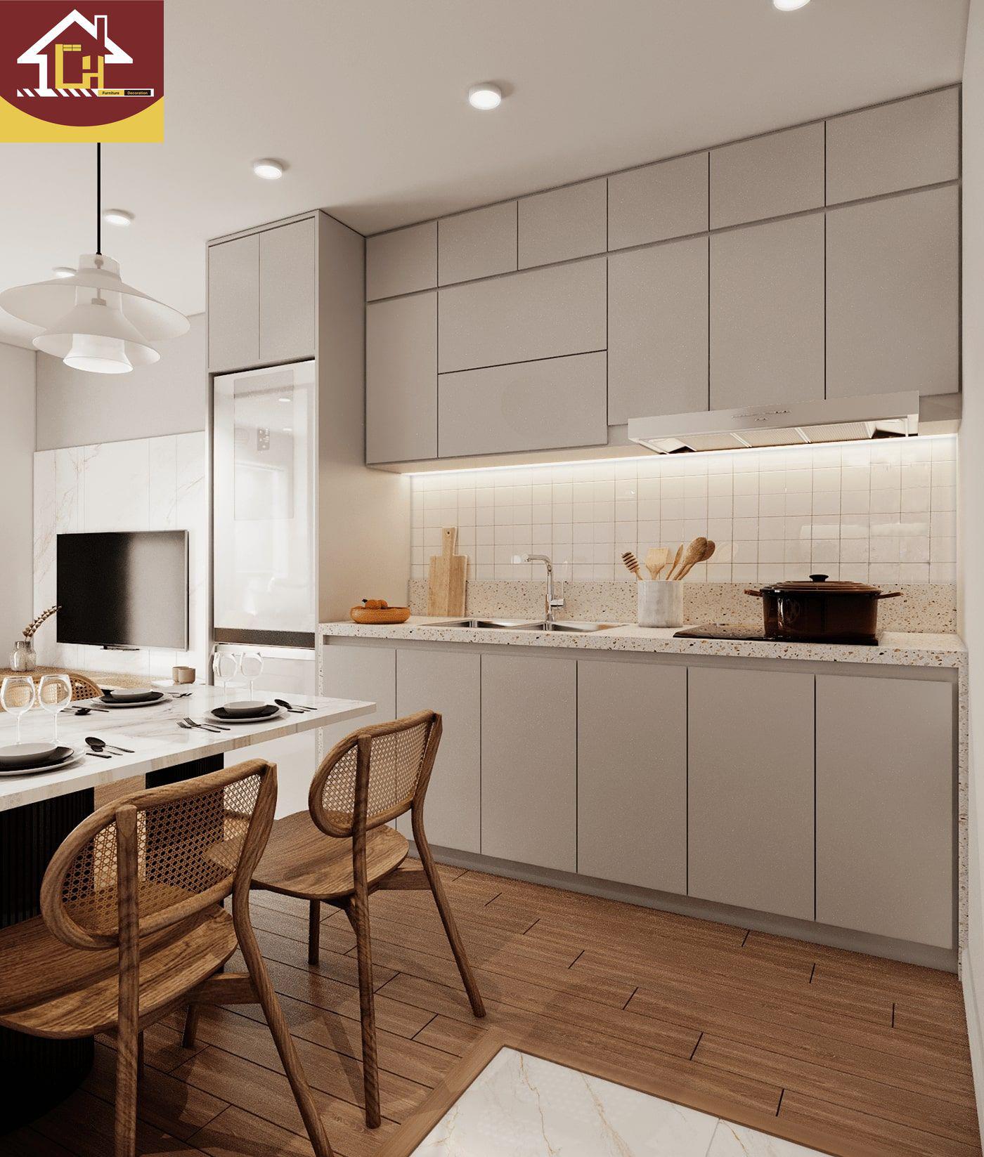 Thiết kế nội thất căn 2 ngủ + 1 chung cư Vinhomes Ocean Park