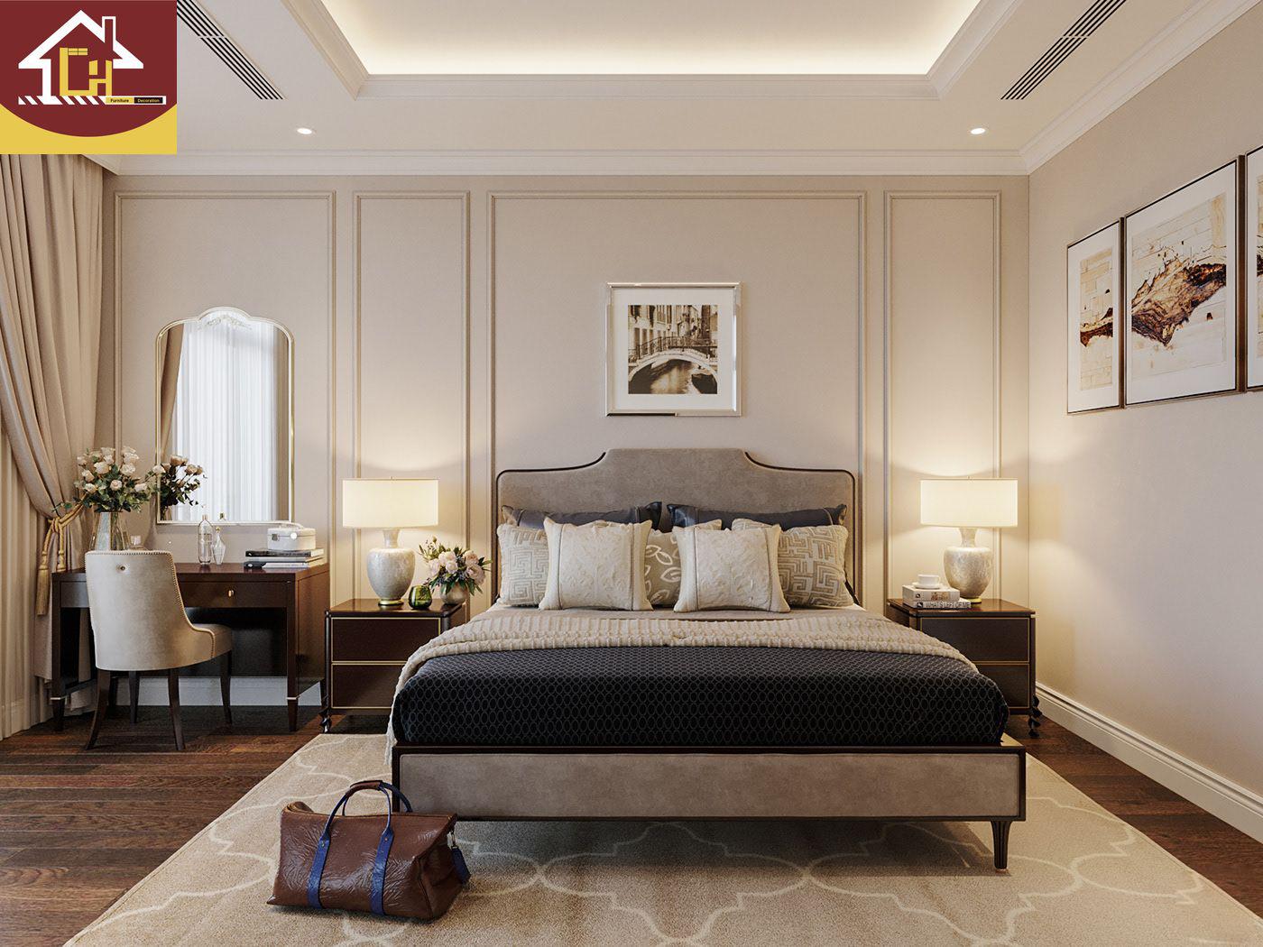 Thiết kế thi công nội thất biệt thự tại Vinhomes Smart City